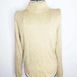 Ralsey Gold Metallic Sweater M